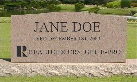 Realtor Headstone