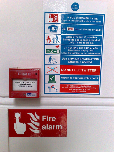In Case of Fire Don't Use Twitter