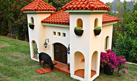 Dog House 3 Amazing Dog Houses. Rich dogs should have a nice home to love in too!  Beverly Hills Homes, Beverly Hills Real Estate   http://www.ChristopheChoo.com