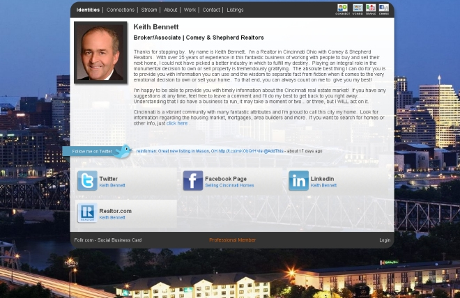 Facebook Page Profile: Selling Cincinnati Real Estate | Network