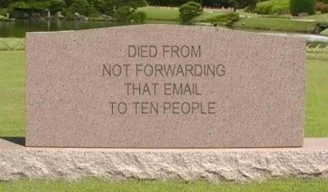 Email Tomb Stone