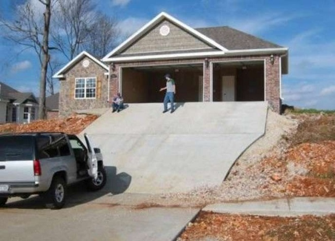 New home construction fail hopefully this home isn t too for Steep driveway construction
